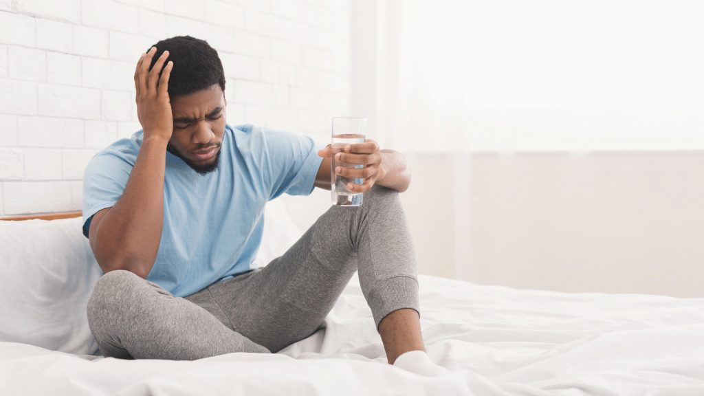 weed headache caused by dehydration