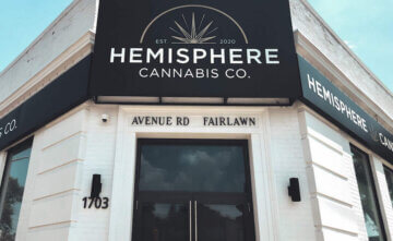A photo of Hemisphere Coffee's first location on Avenue Road in Toronto.